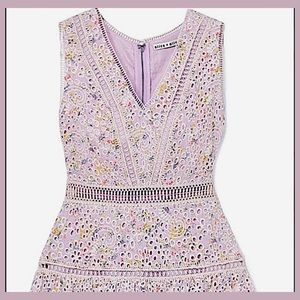 Alice+Olivia / Lilac floral Lace/Eyelet dress NWT